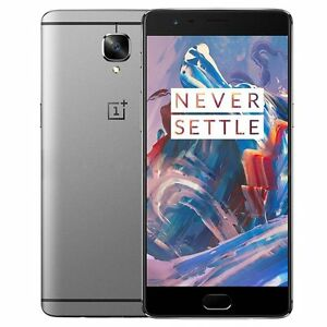 New OnePlus 3 A3000 Graphite Unlocked GSM Android Dual Sim 6GB RAM 64GB 4G LTE
