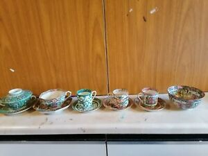 6xChinese antique teacup set and tea bowl
