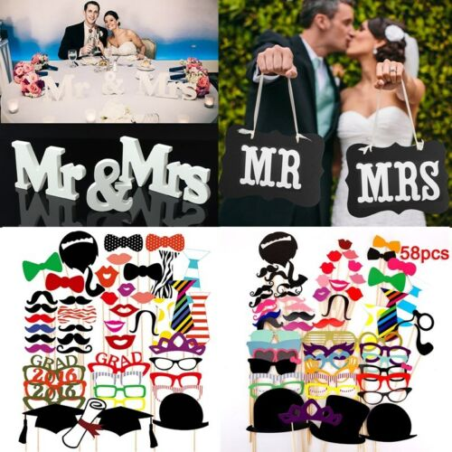 58pcs-Photo-Booth-DIY-Mask-Mustache-Stick-Props-Wedding-Birthday-Christmas-Party