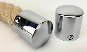 Poli Chrome Fini Main Courante Corde Fin Casquette Pour Diametre 24mm Cordes Ebay
