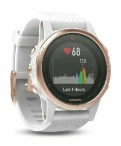 Garmin Fenix 5s 42mm Multisport GPS Fitness Watch Sapphire Rose Gold/White - NEW