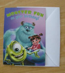 New Disney Monsters Inc Pop Up Birthday Card Free Shipping Ebay