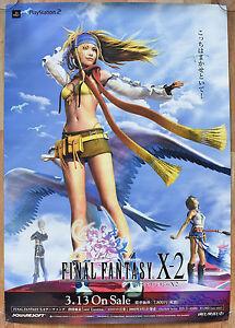 details about final fantasy x 2 rare ps2 51 5 cm x 73 cm japanese promo poster 4