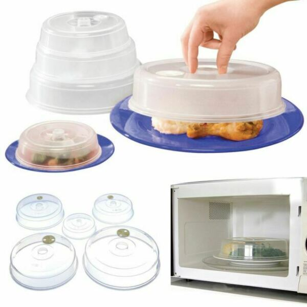 uniwides ventilated microwave plate covers clear set of 5 for sale online ebay