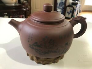 Chinese real yixing zisha original ore dahongpao clay tea pot marked 200ml pots