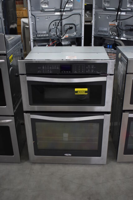 whirlpool woc95ec0as 30 inch microwave combination wall oven