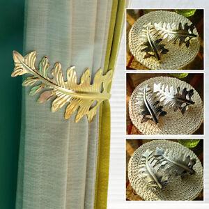 details about u shaped leaf metal curtain holdback wall tie backs hooks hanger holder decor