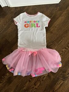 Happy Birthday Outfit Girl Size 6 Two Piece Pink Ebay