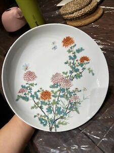 Chinese Antique Families Rose Flowers Plate It Marked Asian China