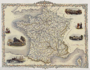 1800 S MAP FRANCE TOULOUSE FONTAINEBLEAU REPRO POSTER   eBay Image is loading 1800 039 S MAP FRANCE TOULOUSE FONTAINEBLEAU REPRO