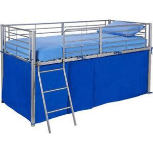 details sur tente bleue pour lit mi hauteur garcons chambre jouets jeux rangement neuf afficher le titre d origine