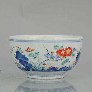 Antique 18/19th Kakiemon Flower Japanese Porcelain Bowl Japan Quality Piece