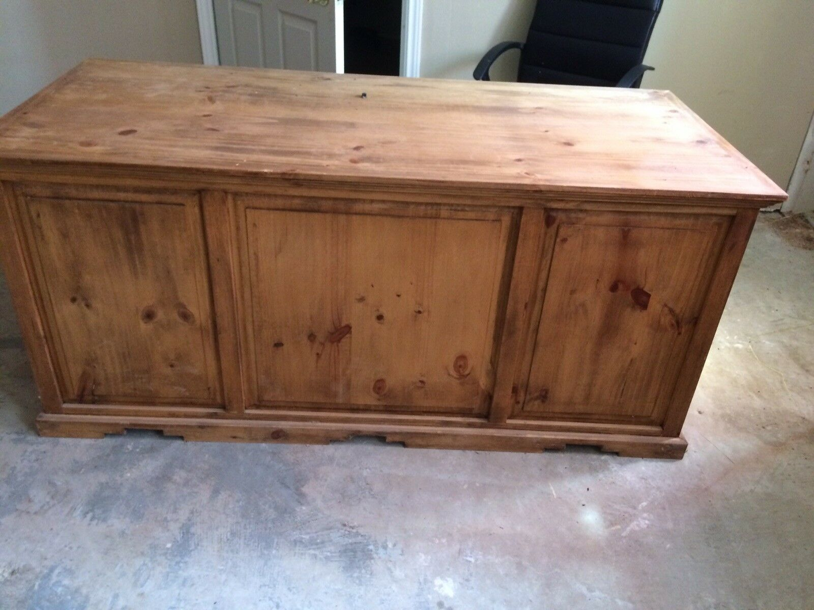 Rustic Honey L Shaped Desk Executive Western Real Solid Wood Cabin Lodge