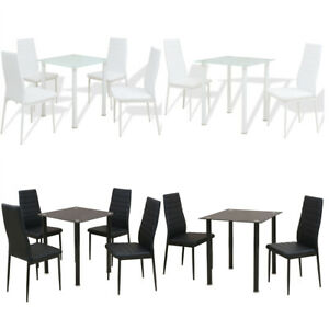 details sur ensemble table et chaise de salle a manger meuble de cuisine 3 5 pcs noir blanc