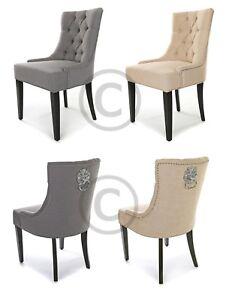 details sur nouveau lion knocker scoop chaise salle a manger deep bouton capitonnee gris ou en tissu beige afficher le titre d origine