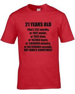 21st Geburtstag Herren T Shirt 21 Zwanzig One Lustig Geschenkidee Fur Ihn Clever Ebay