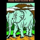 African Animals Stained Glass Coloring Book by Gaspas, Dianne