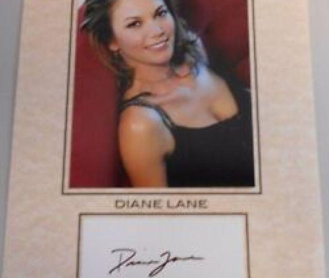 Image Is Loading Diane Lane Hottie Actress Hot Photo W Autographed