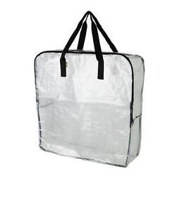 details sur ikea dimpa grand transparent sac rangement avec fermeture