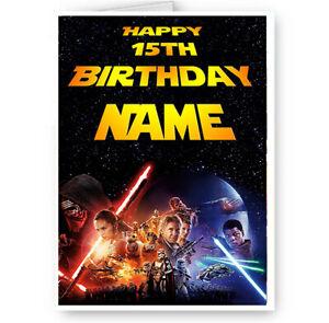 details sur nom personnalise star wars joyeux anniversaire carte avec enveloppe afficher le titre d origine