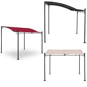 details sur tonnelle de jardin terrasse pergola tente pavillon toile 2 6x3m couleurs variees