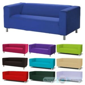 Détails Sur Housse Pour Ikea Klippan Canapé 2 Places Jeté De Lit Causeuse Coton Sergé