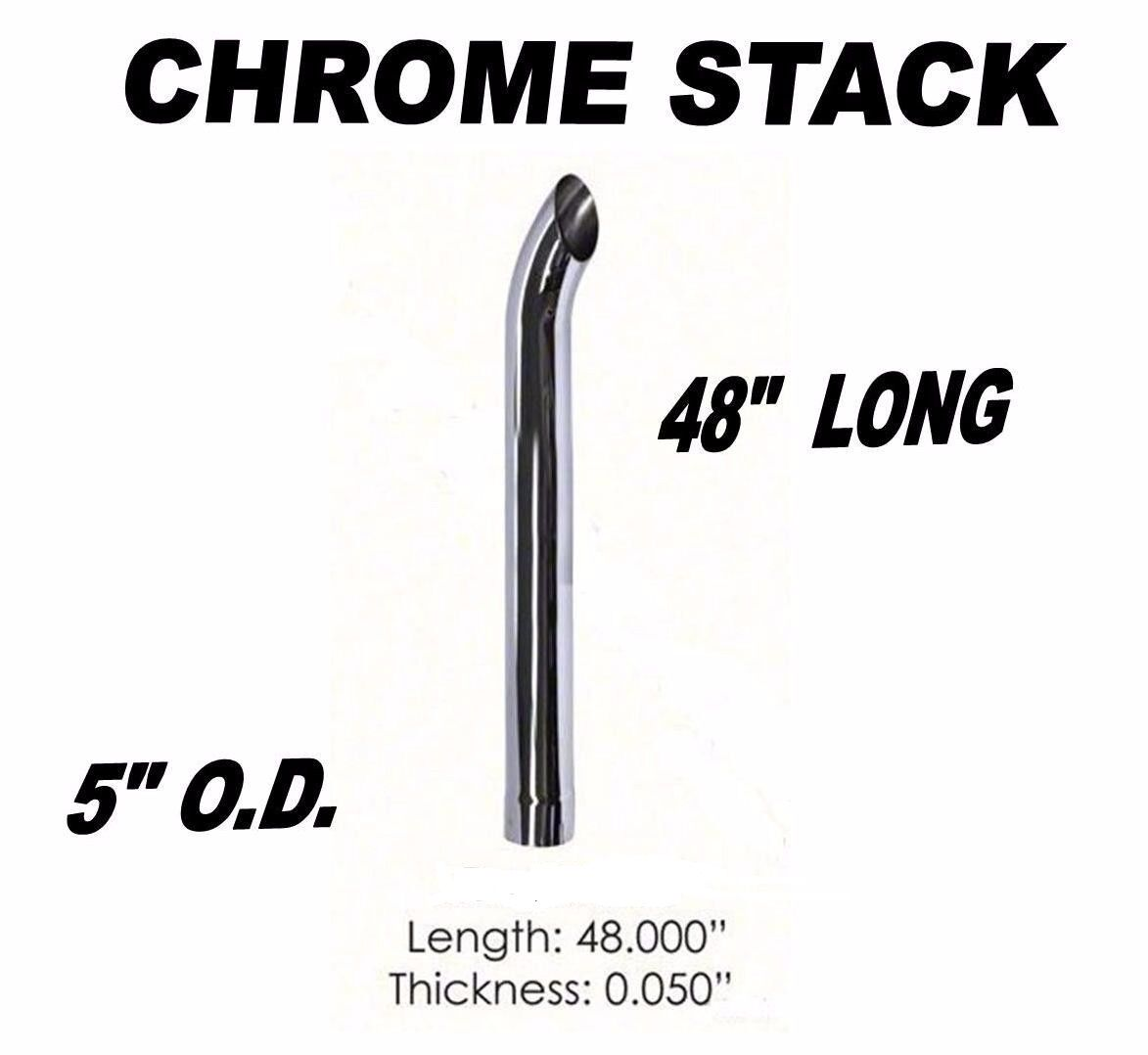 Chrome Exhaust Stack 5 X 48