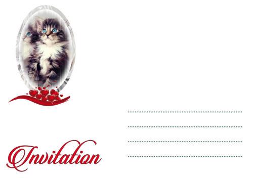feste besondere anlasse 5 12 ou 14 cartes invitation anniversaire chat ref 36 mobel wohnen sunnybatra com