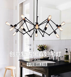 Industrial Eichholtz Spider Replica Pendant Light Lamp 12 ARMS     Image is loading Industrial Eichholtz Spider Replica Pendant Light Lamp 12