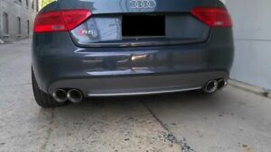 details zu 2x audi s5 stainless steel dual exhaust tips 4 0 2 5 pair 2 5 4 0 twin tip ss