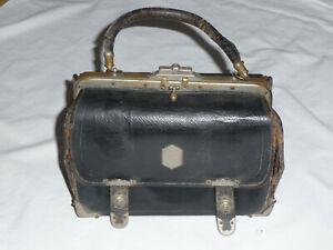 details sur sac a main cuir vintage annees 20