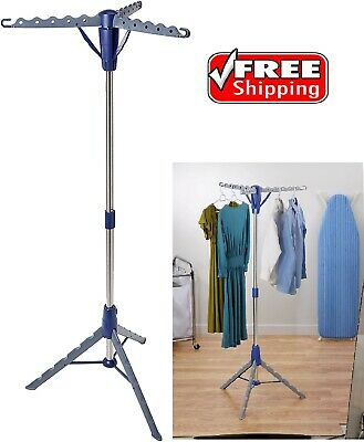 collapsible portable tripod clothes drying rack hanging laundry indoor outdoor ebay