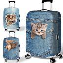 18″-32″ Elastic Dog Cat Travel Luggage Suitcase Protective Dust Cover Case 13US