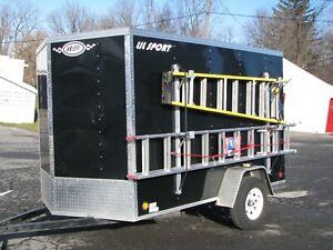 details about aluminum double side ladder rack for trailers trucks vans etc