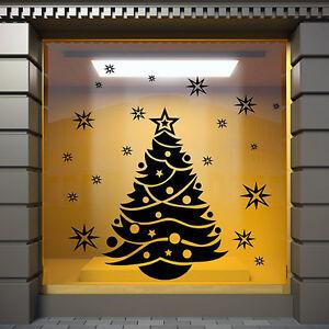 details sur weihnachts arbre wall stickers noel vitrine decoration autocollants s27 afficher le titre d origine