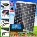 100W 12V Mono Flexible Solar Panel W/10A Controller For Car Phone Charge Panel
