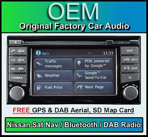 Nissan Juke Sat Nav car stereo, DAB radio, LCN2 Connect