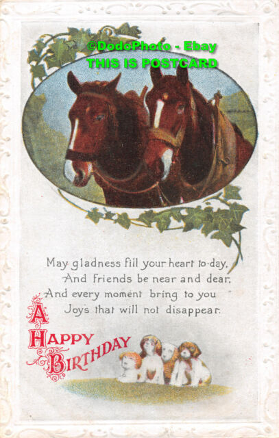 R338385 A Happy Birthday Dogs And Horse British Production Series No 312 Ebay