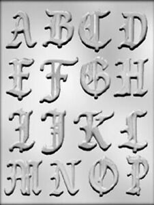 Alphabet Fancy Letters A To P Chocolate Mould Ebay