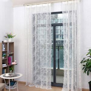 details sur rideaux voilages blanc en dentelle panneau voile de fenetre 150x100cm