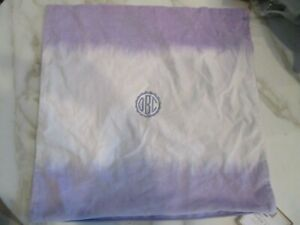 details about pottery barn kids dip dye monogrammed pillow cover 18 new see monogram