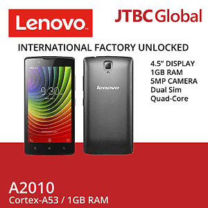 New Lenovo A2010 4.5 Inch 8GB Dual SIM 4G LTE Factory Unlocked Android Phone