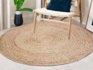 details sur tapis jute rond 100 naturel 120 cm ideal jardin salon chambre