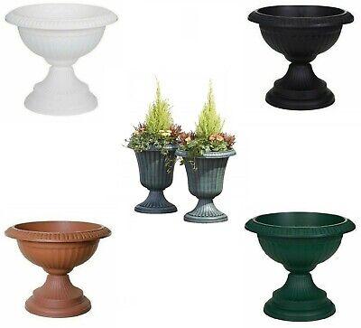 plastic round grecian plant pot planter decorative bowl patio garden grow tray ebay