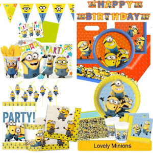 Lovely Minions Birthday Party Range Despicable Me Tableware Supplies Decorations Ebay