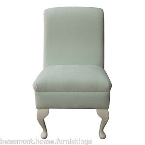 Small Occasional Bedroom Chair Duck Egg Fabric Living Room Accent Queen Anne Uk 5056054291678 Ebay