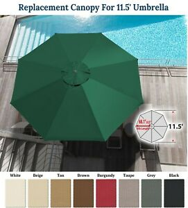 details about replacement canopy for 11 5ft patio umbrella 8 rib patio outdoor sunshade cover