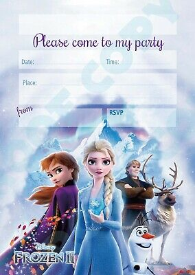 103 frozen 2 pack of 1 x10 anna elsa kids children birthday party invitations ebay