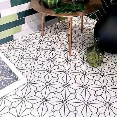 tile sample jubilee white moroccan victorian porcelain tiles 20 x 20cm ebay