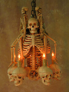 Image Is Loading Skeleton Chandelier Prop Human Skeletons